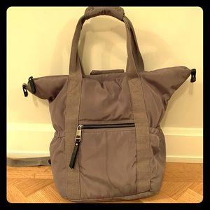 Grey convertible tote / backpack